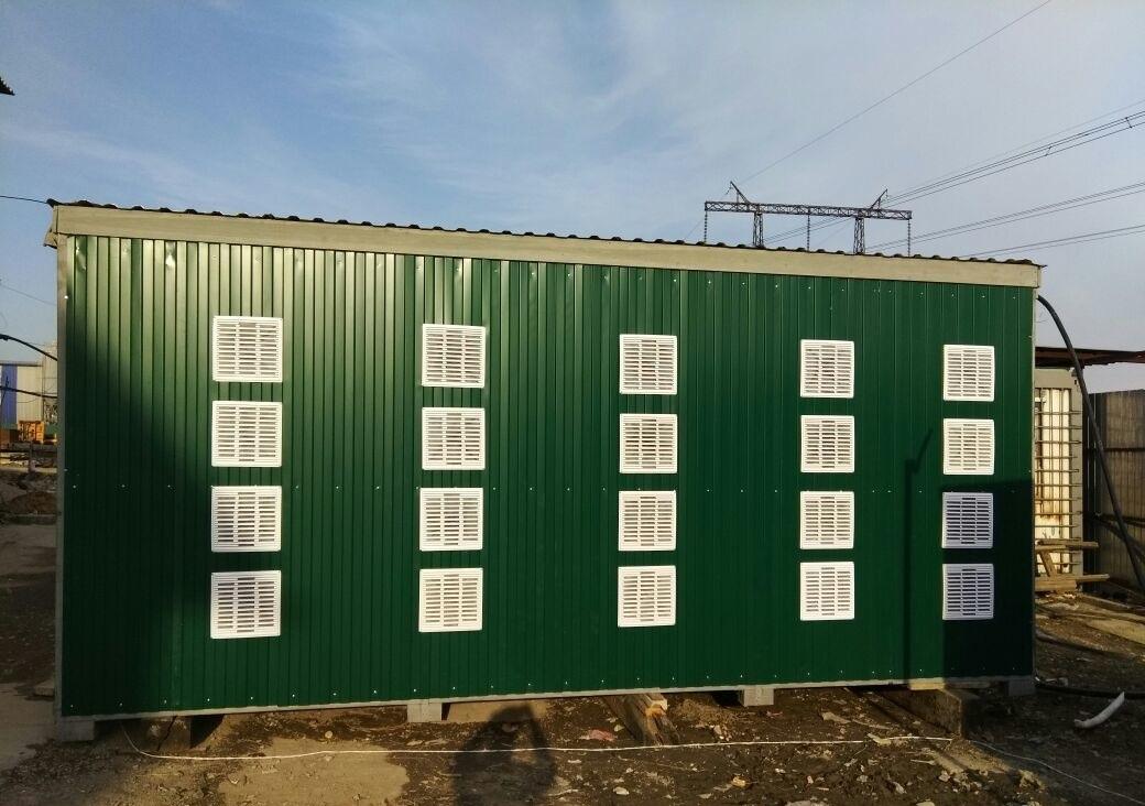 """Мобильный контейнер для майнинга на 140 устройств """"под ключ"""" купить в Иркутске."""